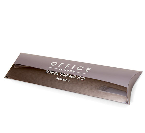 Sleeve presentation silver foil box